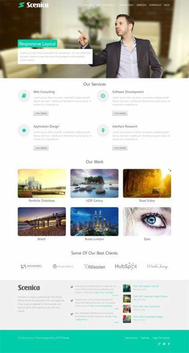 Scenica WordPress Theme Review - CPOThemes
