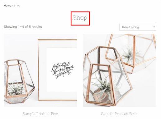 Shop Page - Tiffany Theme