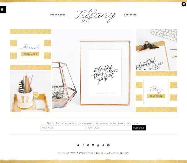 Bluchic Tiffany : eCommerce WordPress Theme