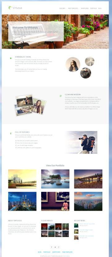 Virtuous Portfolio WordPress Theme – CPOThemes Review