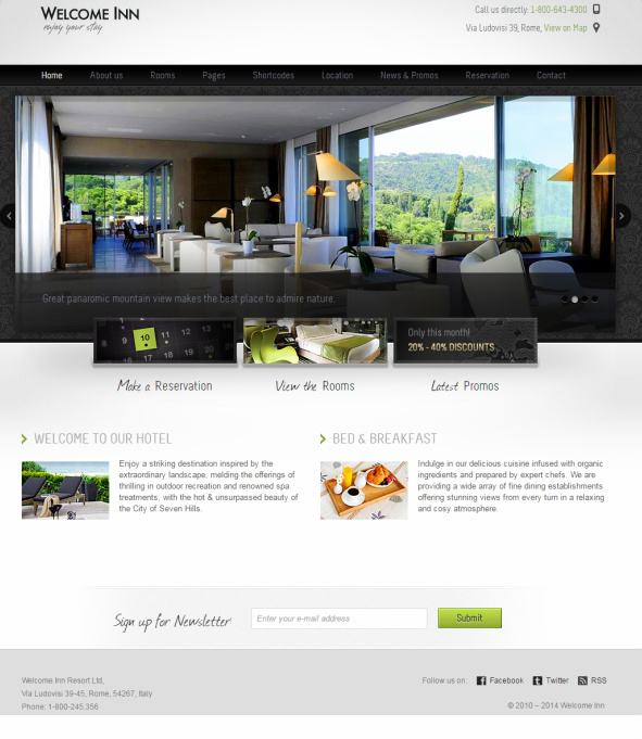 Welcome Inn ThemeFuse - Homepage Features