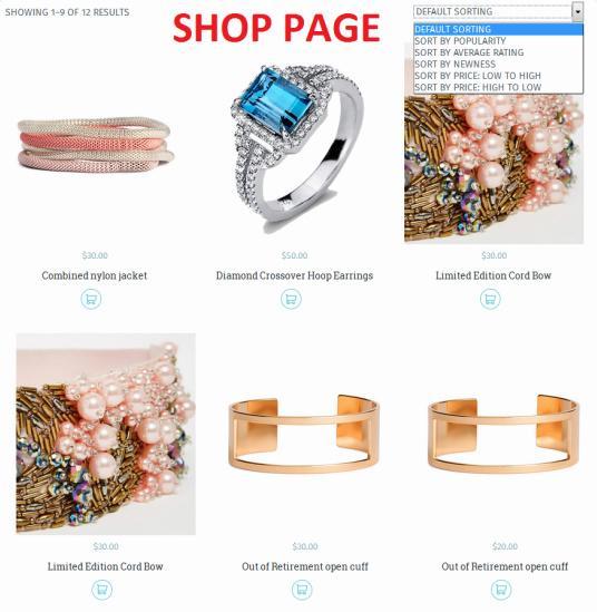 WooCommerce Shop Page - TeslaThemes