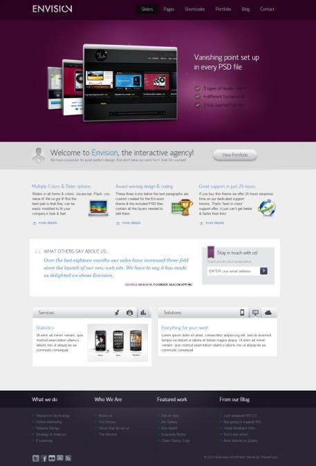 Envision Business WordPress Theme : ThemeFuse
