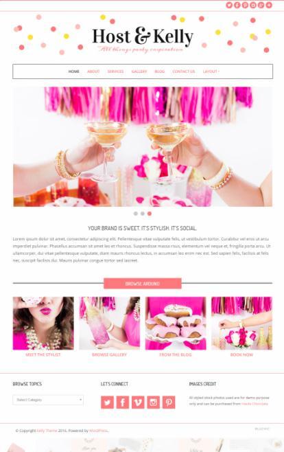 Kelly Theme Review – Feminine WordPress Theme by BluChic