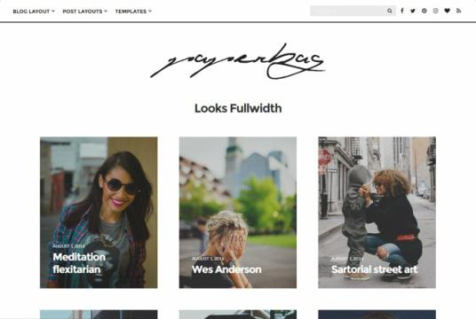 Looks Template - Full Width style