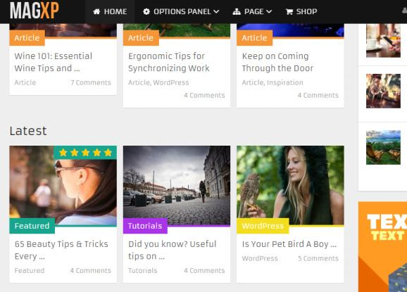 MagXP - Featured posts on homepage