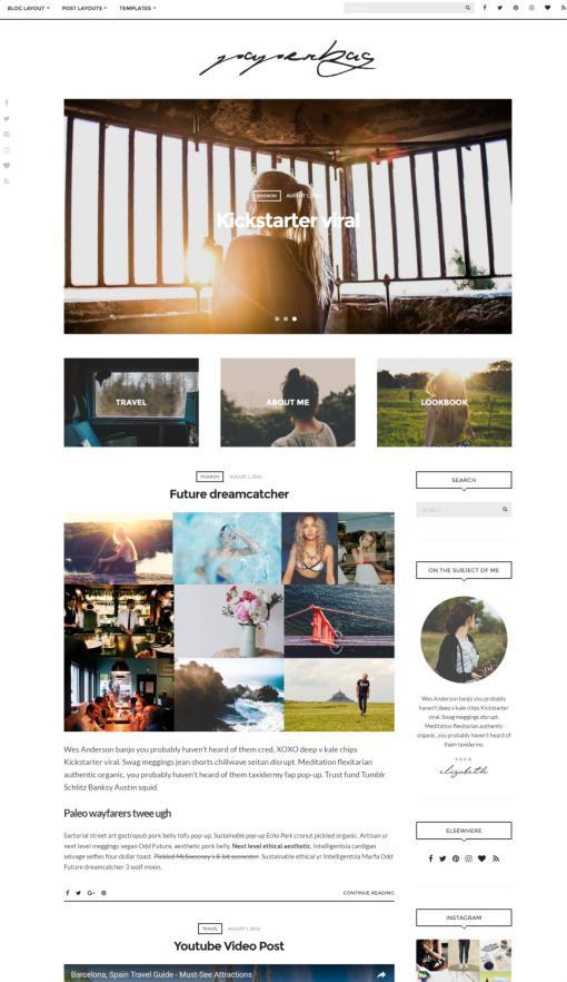 Paperbag Review CSSIgniter – WordPress Blogging Theme