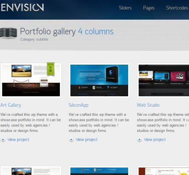 Portfolio Page - Envision