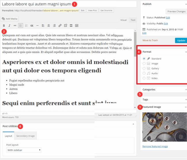Post Formats - Paperbag blogging theme
