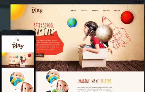 Responsive Kindergarten WordPress Theme - Kids Play