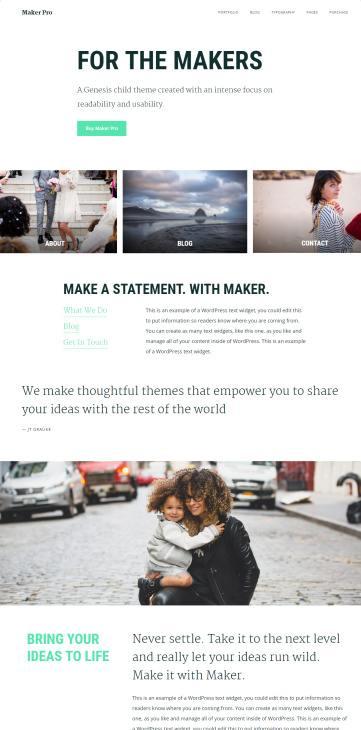 Studiopress Maker Pro by JT Grauke : Genesis Business Theme