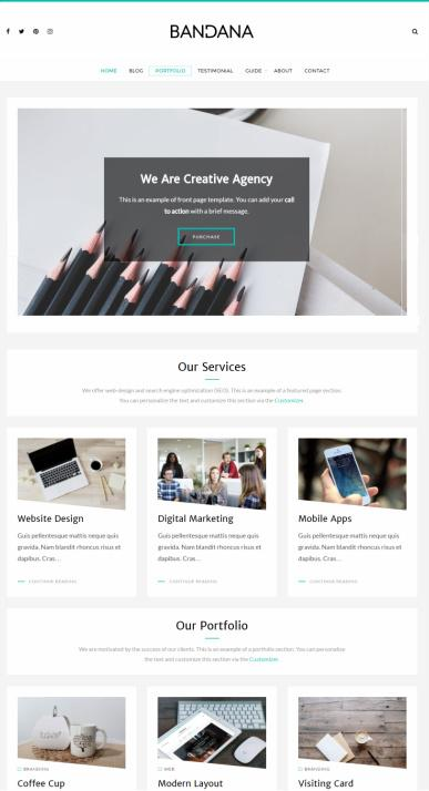 bandana-portfolio-wordpress-theme-designorbital-review