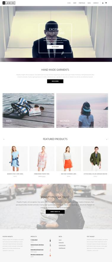 Blanche Viva Themes : Portfolio / Shop WordPress Theme