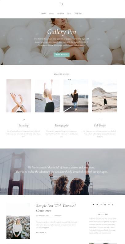 StudioPress Gallery Pro : Genesis WordPress Theme