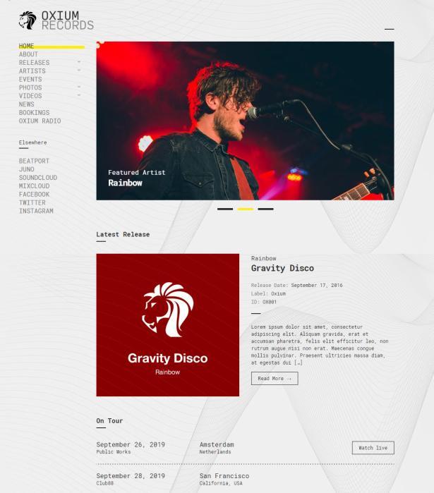 CSSIgniter Oxium Demo : Responsive Music WordPress Theme
