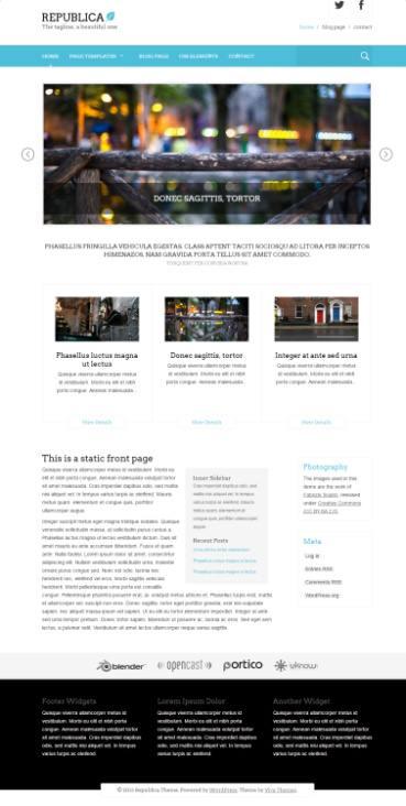 Viva Themes Republica : Multi-Purpose WordPress Theme