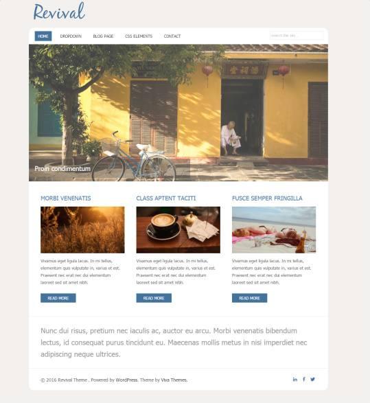 Viva Themes Revival : Business WordPress Theme