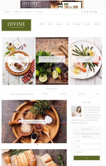 StudioPress Divine : Genesis WordPress Blogging Theme