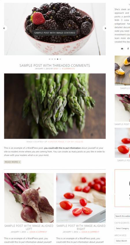 Foodie Homepage Widgets – Foodie Pro