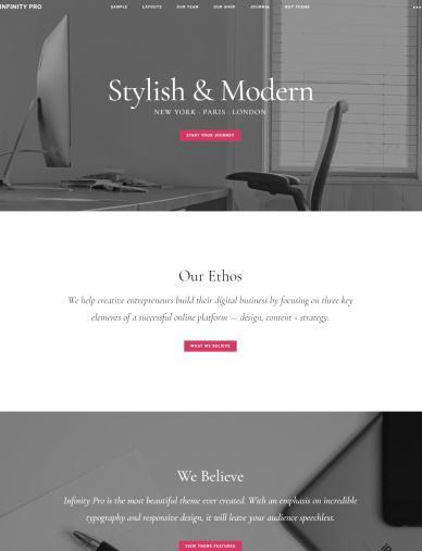 Infinity Pro Review - StudioPress - Genesis Business WordPress Theme