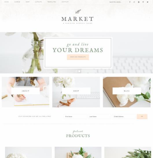Market Pro Demo : Studiopress Restored 316 Genesis Theme