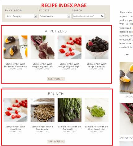 Recipe Index Page - Foodie Pro