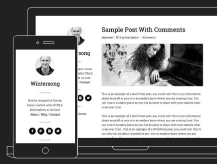Responsive Preview - Wintersong Pro Blogging Theme