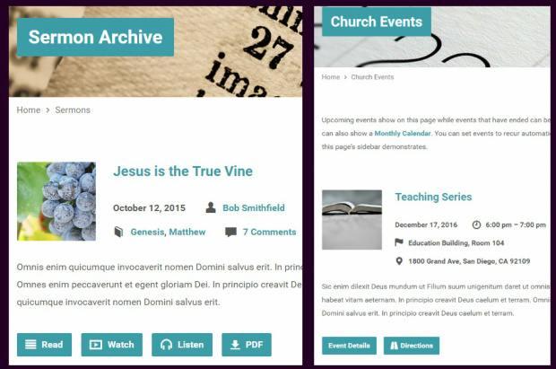 Sermons Events - Exodus ChurchThemes