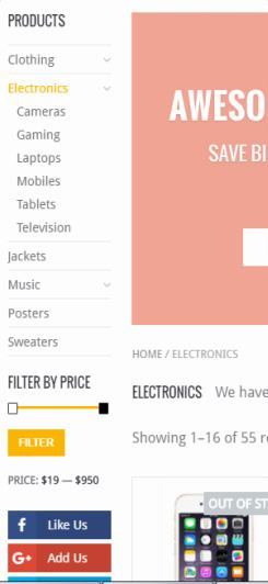Sidebar Price Filter and Category Widget - WooShop