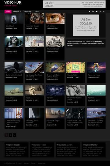 Video Hub Demo : RichWP Video WordPress Theme