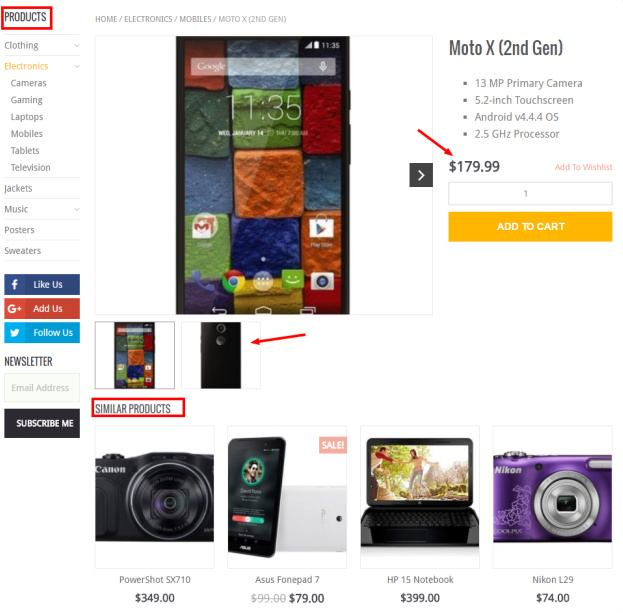 WooShop Product Page Demo