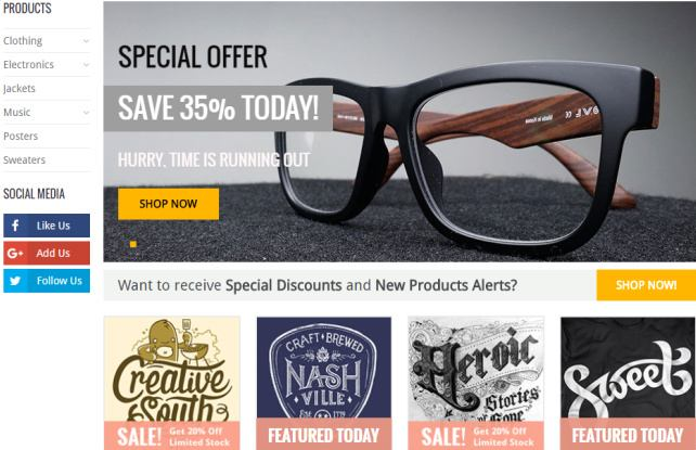 WooShop Slider and Homepage Banners
