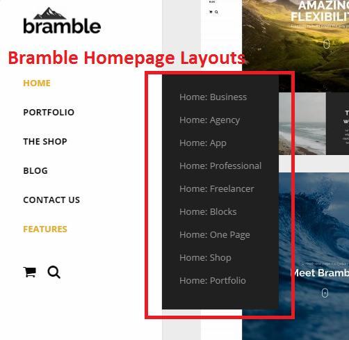 Bramble Homepage Layouts