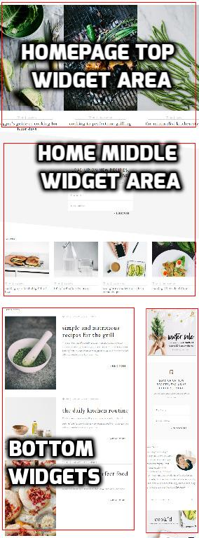 Cook'd Pro Home Page Widgets