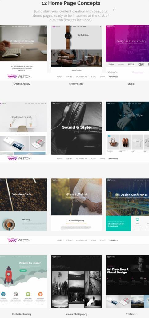 Homepage Layouts - Weston ThemeTrust