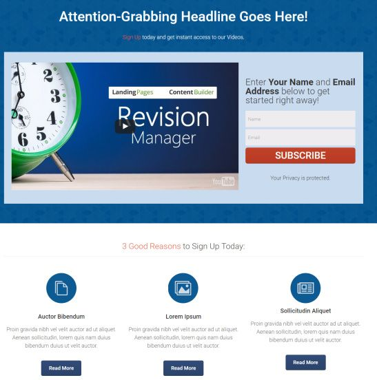 Lead Generation Landing Page -Rise WordPress Theme by Thrive
