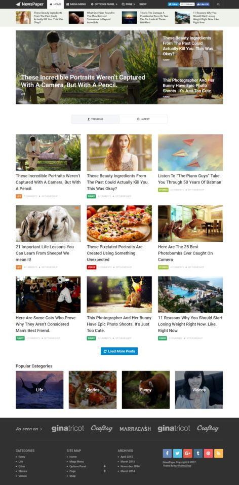 MyThemeShop NewsPaper Demo : News/Magazine Theme