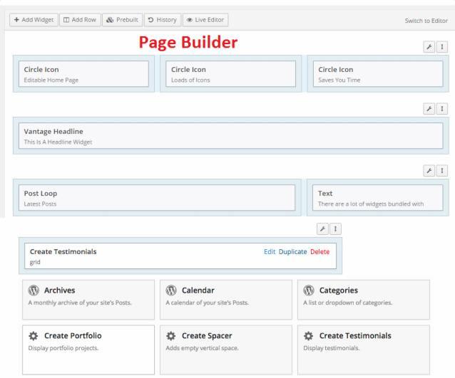 Page Builder Prebuilt Layouts SiteOrigin - Create