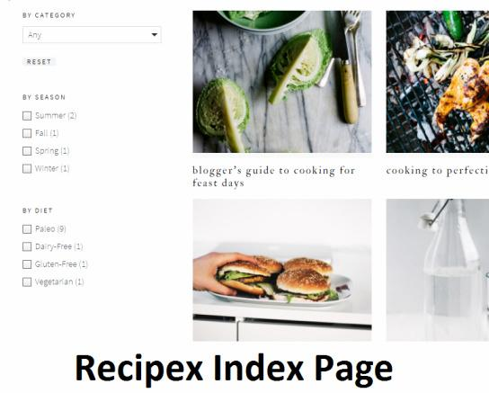 Recipes Index Page - Cook d Pro Theme