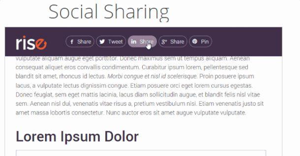 Social Sharing - Rise Thrive Themes
