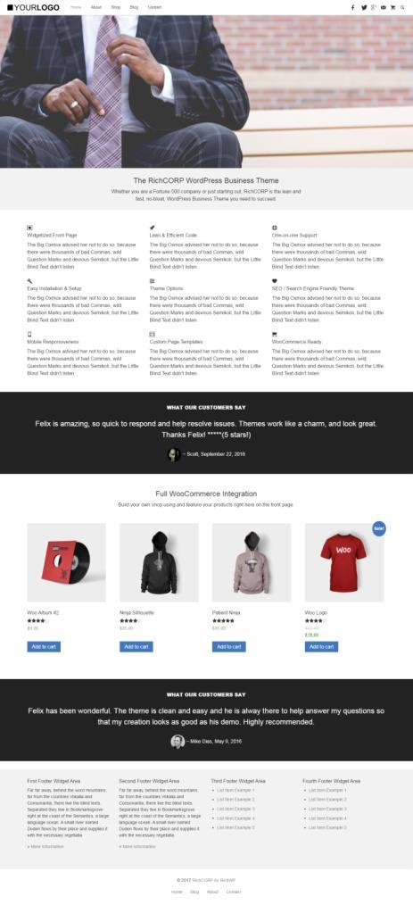 The RichCORP Demo - RichWP WordPress Business Theme