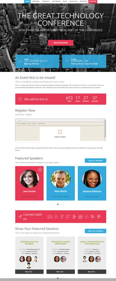 Tyler Showthemes : WordPress Conference and Event Theme