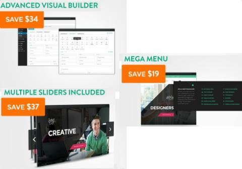Architekt Free Premium Plugins - Visual Builder - Slider - MegaMenu