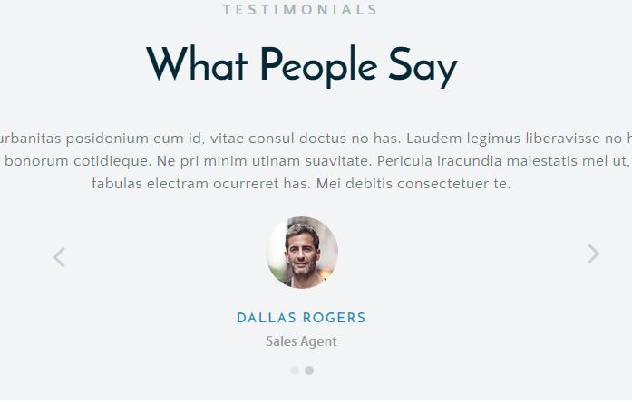 Business Testimonials Slider - The Advisors theme