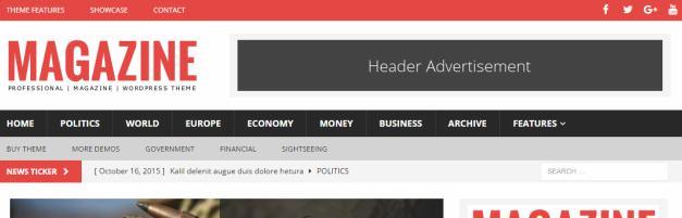Header and News Ticker - MH Magazine Pro