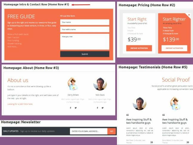 Homepage Sections - Genesis Widgets