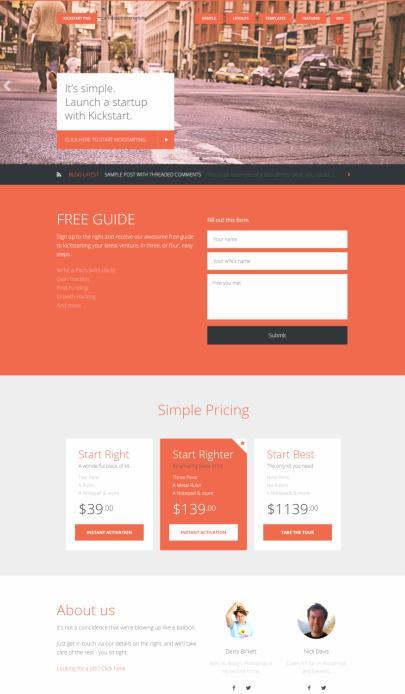 Geneis Kickstart Pro by Lean Themes : StudioPress Business Theme