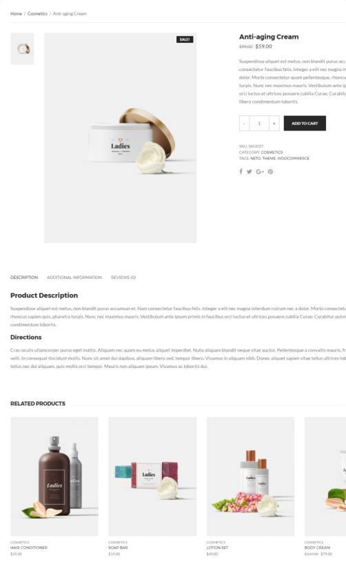 Neto - Single Products Listing Options