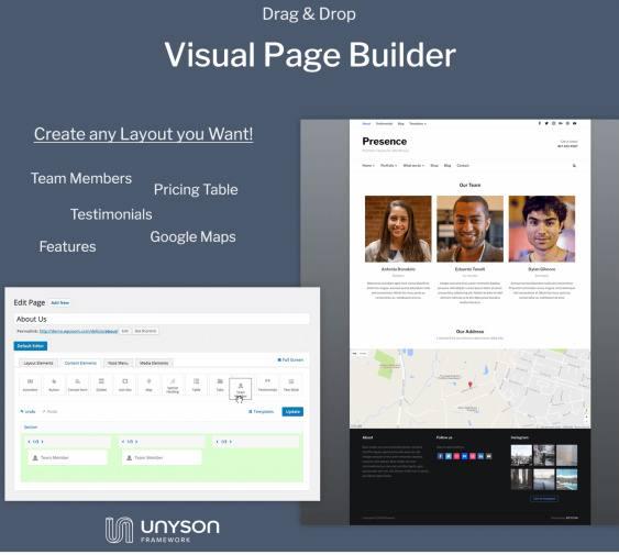 Presence - Unyson - Visual Page Builder