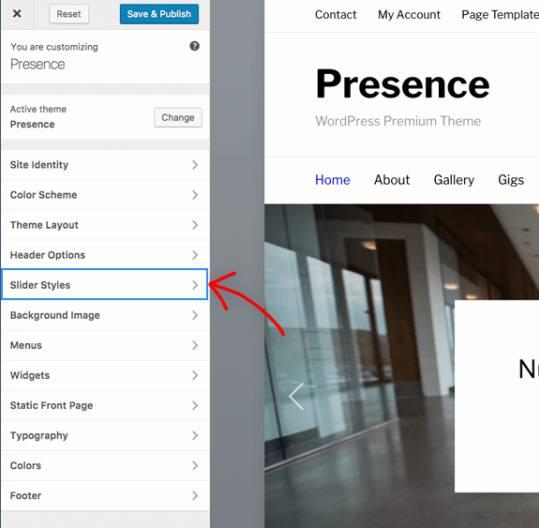 Presence - WordPress Customizer